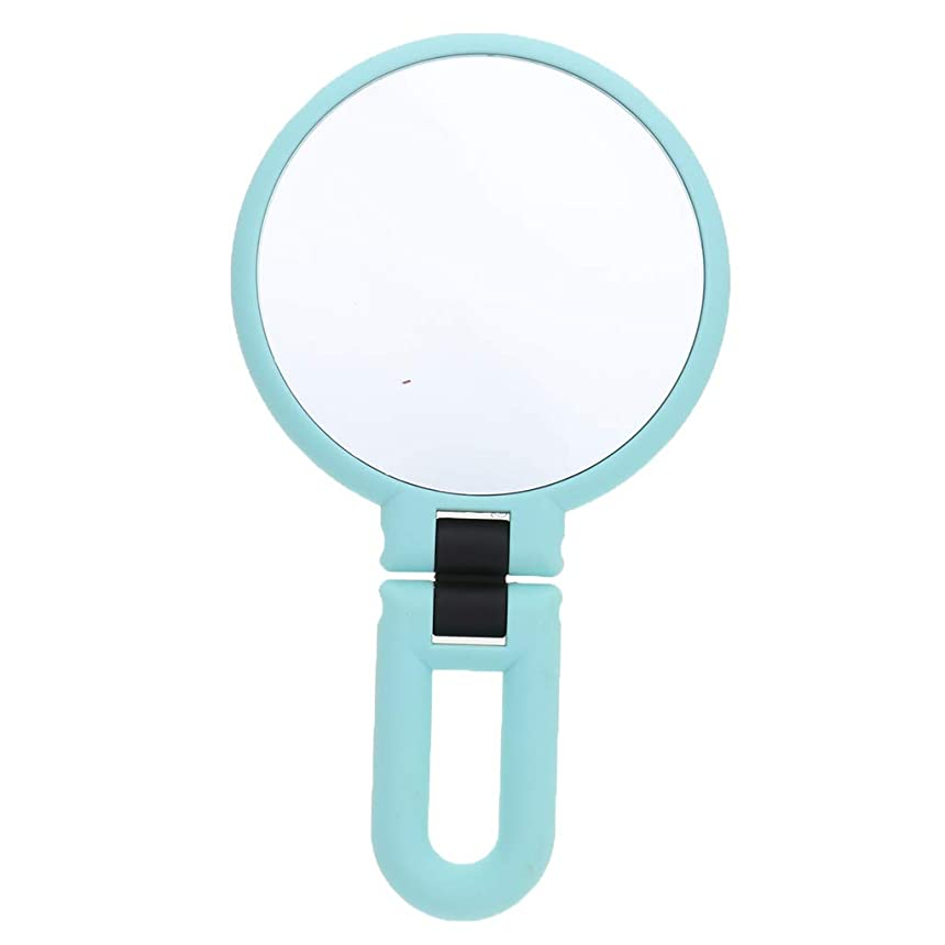 gazechimp 鏡 化粧鏡 ハンドルミラー 装飾 ポータブル 両面鏡 全3サイズ - 15倍の拡大鏡