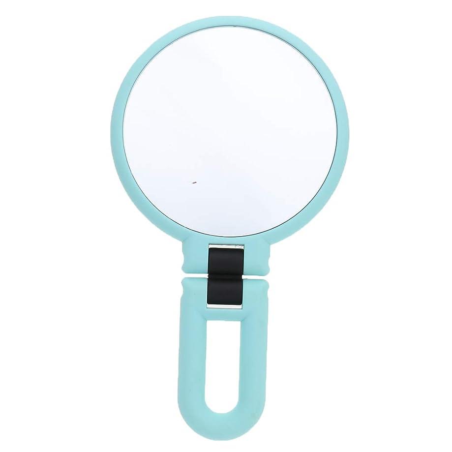 苦難郵便番号ケージgazechimp 鏡 化粧鏡 ハンドルミラー 装飾 ポータブル 両面鏡 全3サイズ - 15倍の拡大鏡
