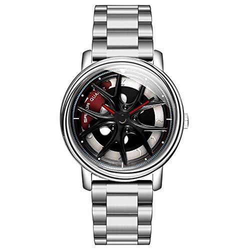 SANDA Relojes De Pulsera,El Nuevo Tiempo de Personalidad llega a Correr Reloj Masculino Unisex de Cuarzo Reloj de Hombre Tendencia de Estudiante Banda de Acero Reloj Impermeable-Plata