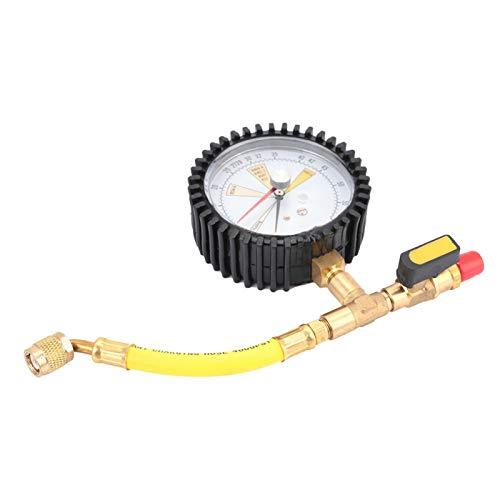 Manómetro de alta precisión Manómetro lleno de líquido Manómetro de prueba de presión para refrigerante para aire central para aire acondicionado
