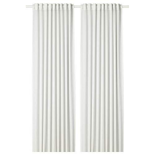 IKEA ASIA HILJA - Coppia di Tende, 145 x 250 cm, Colore: Bianco