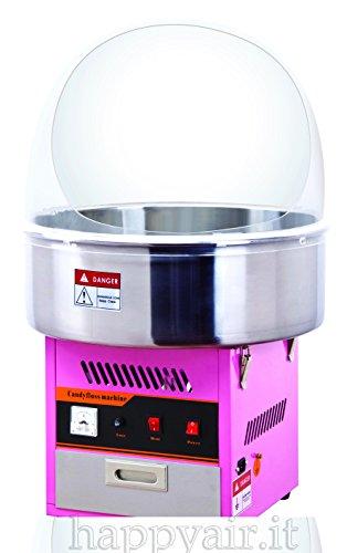 Macchina per lo zucchero filato professionale con cupola Happy Air