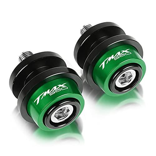 lanbodada Deslizador del Brazo oscilante Motocicleta 6MM Tornillos De Soporte Basculante Accesorios De Carretes Deslizantes para Yama-HA TMAX560 Tech MAX ABS 2020 Tmax (Color : Verde)