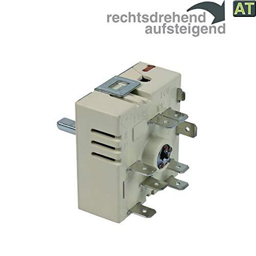 Energieregler Kochplattenschalter wie EGO 50.55021.100 Zweikreisregler Schalter 230V für Kochfeld Herd Rechtsdrehend