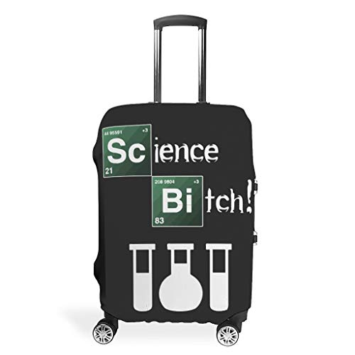 Science Bitch Suitcase Cover Reusable Washable Fits 18-32 Inch for Wheeled Suitcase Over Softsided White 22-24in