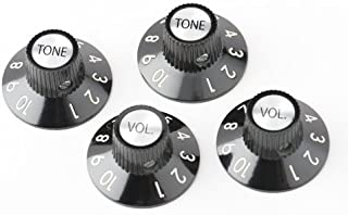 Fender 72 Telecaster Custom Knobs - Black, Set of 4