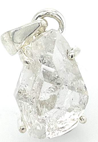 Natural Herkimer Diamond 925 Solid Sterling Silver Cluster Pendant 20Mm