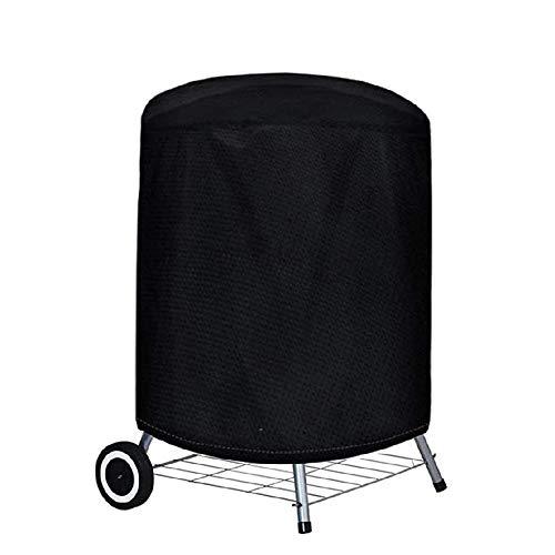Osarke Rond Housse Barbecue Couverture de Barbecue Housse Bâche de Protection pour Rond Barbecue Grill Imperméable Extérieur Tissu Oxford 420D Imperméable/Anti-UV/Anti-Poussière (75x70cm)- Noir