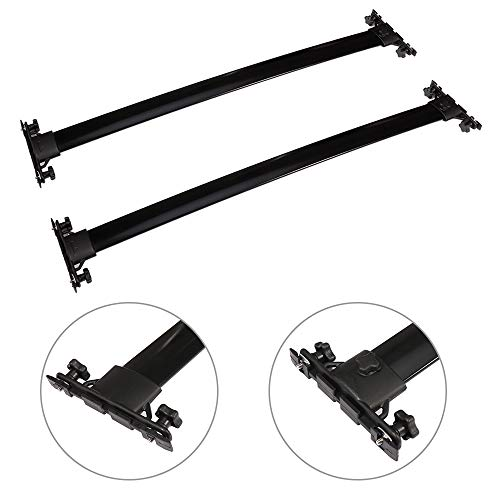 AUTOMUTO Roof Rack Aluminum Top Rail Carries Luggage Carrier Fit for 2008 2009 2010 2011 2012 2013 Toyota Highlander Baggage Rail Crossbars