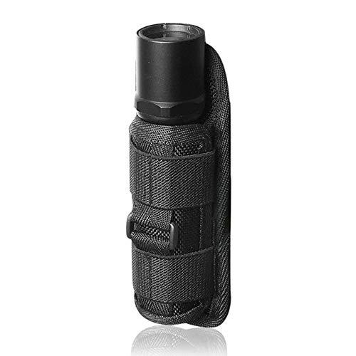 LUXJUMPER Funda de linterna táctica, soporte de bolsa de linterna LED Estuche de transporte de antorcha de cinturón de nailon con clip giratorio de 360 grados