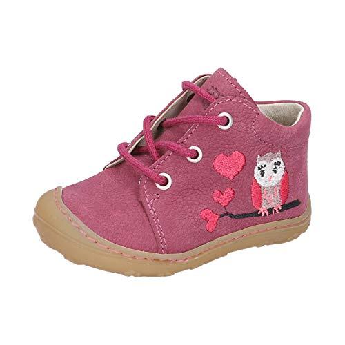 RICOSTA Kinder Stiefel MECKI von Pepino, Weite: Mittel (WMS),terracare, Boots schnürstiefel Leder,Fuchsia,22 EU / 5.5 Child UK