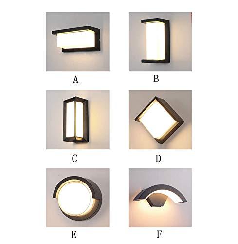 YUHUA Lámpara de Pared LED para Interiores, Lámparas de Pared Blancas Cálidas, Lámpara de Pared Interior, para Sala de Estar Dormitorio Comedor Pasillo Escaleras Balcón,A-18W