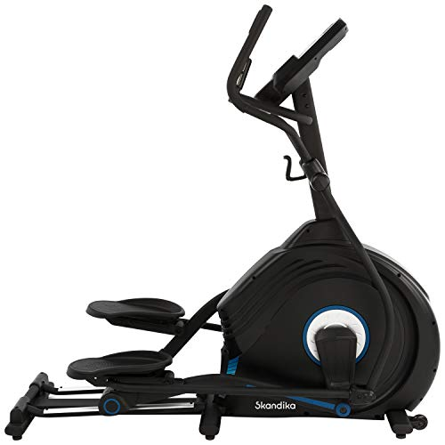 skandika Crosstrainer CardioCross Conqueror, Premium Ellipsentrainer | 25kg Schwungmasse, App-Kompatibel mit Kinomap, 31 Programme, 32 Stufen, 4 Profile, Pulsmessung, Höhenverstellung | max. 150kg