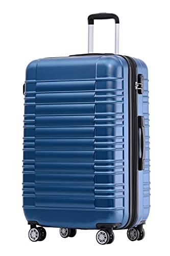 BEIBYE 2088 Zwillingsrollen Reisekoffer Koffer Trolleys Hartschale M-L-XL-Set in 13 Farben (Blau, XL)