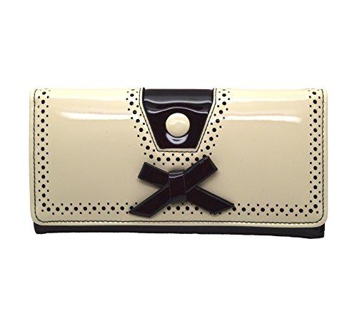 Bolso Billetera Rosemary de Banned de Estilo Rockabilly Retro Vintage - Blanco