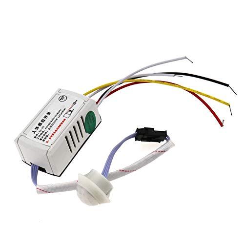OTOTEC Interruptor de sensor de movimiento infrarrojo PIR cuerpo sensor de movimiento automático bombilla AC 220V IR LED tira