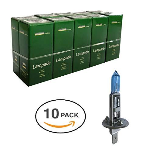 Melchioni Lampe 322399959 H1 12 V 55 W P14.5s blu-confezione de 10 unités, Lot de 10