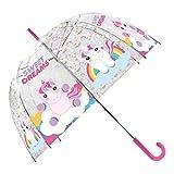 SKYLINE Paraguas para Niños, My Little Pony, Campana Transparente, Paraguas Infantil, Poliéster, 72cm diámetro, Vuelta al Cole, Ideal para Niños