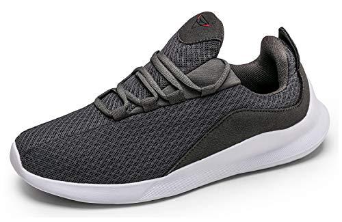 KUTHAENDO Laufschuhe Herren Running Schuhe Sportschuhe Straßenlaufschuhe Sneaker Outdoor Fitness Tennisschuhe Walkingschuhe Trainieren Turnschuhe Joggingschuhe,Grau,9.5 UK/ 44.5