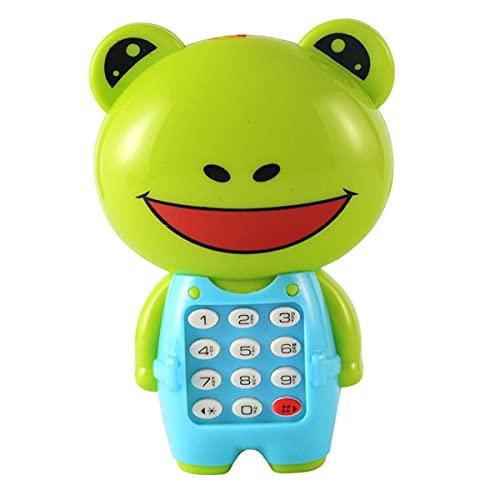 Nihlsen Teléfono con música de Dibujos Animados, Rompecabezas para niños Brillante, Regalo para bebés, teléfono con música para niños, Juguetes portátiles prácticos Resistentes al Desgaste