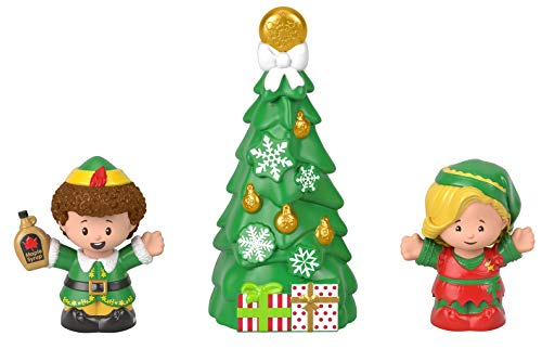 Fisher-Price Little People Collector Elf movie figure set, 3 toys in a gift-ready package for fans ages 1-101 years