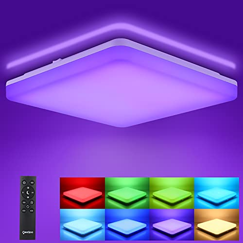 OEEGOO RGB LED Deckenlampe Dimmbar...