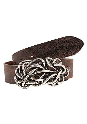 RETTUNGSRING Ledergürtel mit einer Breite von 4 cm, Stärke ca. 4 mm