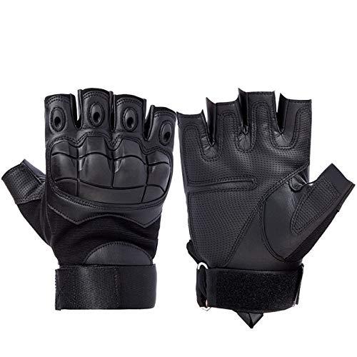 YANODA Half Finger Tactical Gloves Militärarmee Painball-Handschuhe rutschfeste Handschuhe for Die Outdoor-Sportjagd Ausbildung (Color : Black, Size : XL)