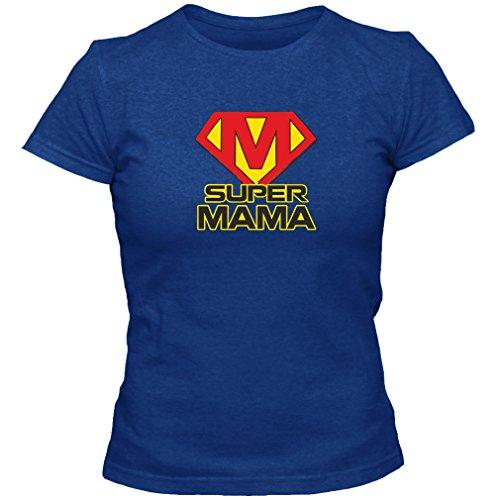 Azul con Que Dice la Camiseta de Las Mujeres, tamaño M, el cumpleaños de la mamá estupenda Regalo de la Madre