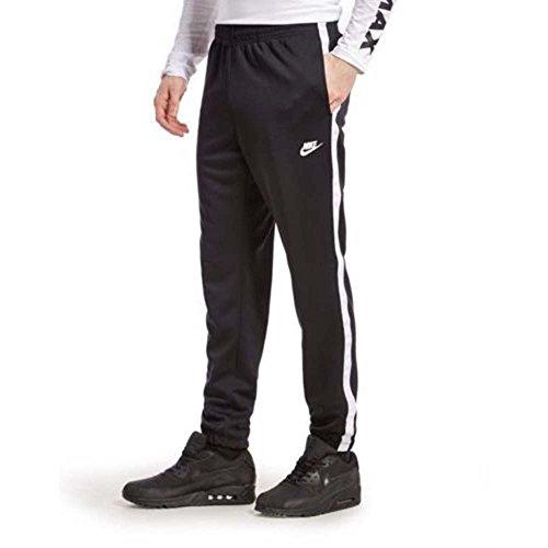 Nike Men's Tribute Cuffed Track Pants Black White Medium 839617 010