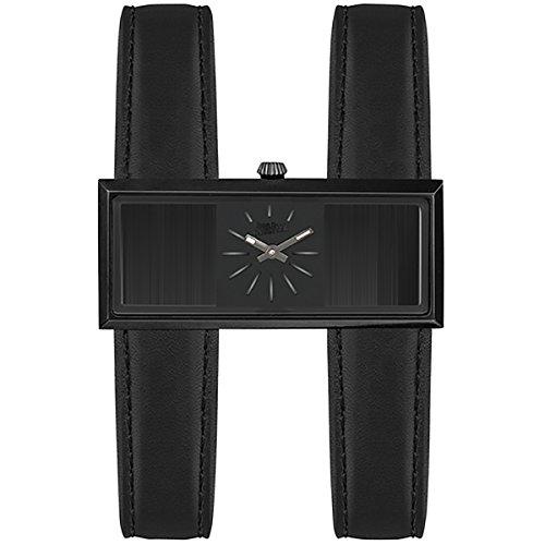 Montre JEAN PAUL GAULTIER en Cuir Noir - Femme - 20 mm x 46 mm