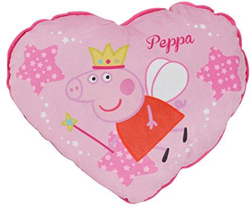 Peppa Pig - Cuscino a Forma di Cuore, Disegno Fata, 60 cm (United Labels 810.590)