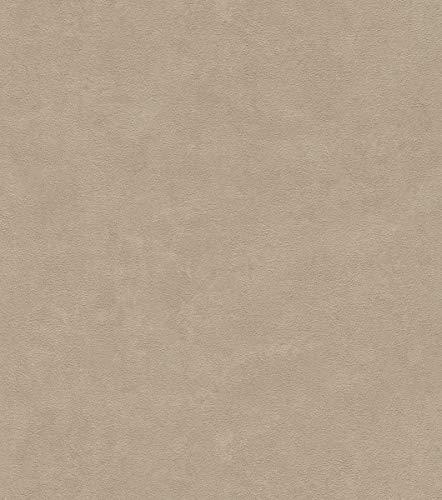 Rasch Tapeten 445855 Braun mit körniger Putz-Struktur-10,05m x 0,53m (LxB) Vlies Tapete Rasch Kollektion Factory III, 10,05 x 0,54