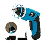 Electric Screwdriver Tilswall Mini Cordless Screwdriver Rechargeable 2000mAh 3.6V 4N.m Battery 10+1 Torque Adjustments with Extra Bits Set for Home DIY and Fit for Ladies, Newbies and Experienced