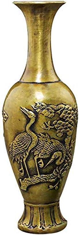しおれたドメイン拍手花器 ヴィンテージブロンズ彫刻インテリアデコレーション吉祥真鍮大きなダイニングルームリビングルームベッドルーム工場フラワー22.3 * 7センチメートル 花瓶
