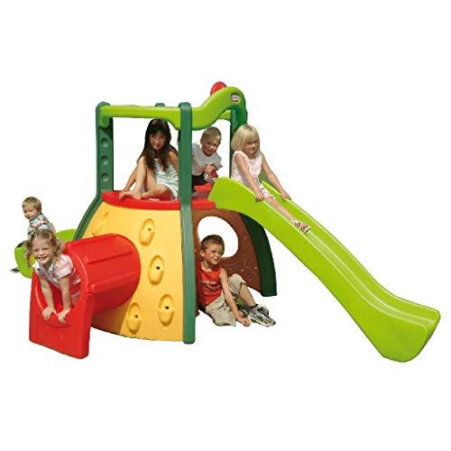 Little Tikes Double Decker Super Rutsche - Outdoor Spielset, Klettergerüst - Fördert Aktives Spielen - Gartenspiele und Abenteuer - für Kinder ab 3 Jahren - Eve