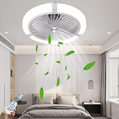 Ventilador Invisible Luz LED Candelabro Dormitorio Ventilador De Techo Función De Sincronización De Luz Velocidad Del Viento Ajustable Sala De Estar Luz Del Ventilador Eléctrico