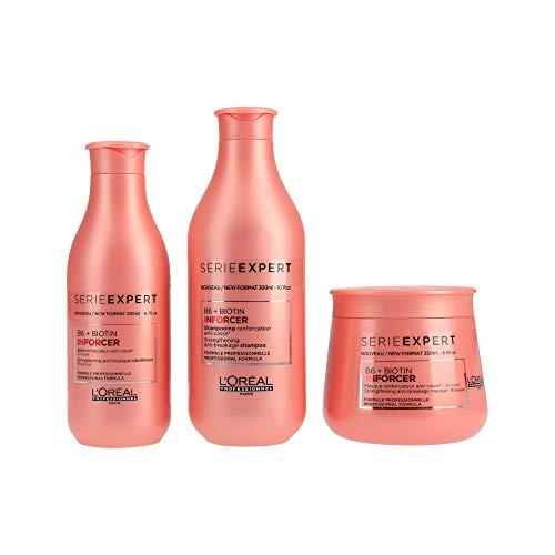 L 'Oreal Serie Expert inforcer Shampoo 300ml, Conditioner 200ml und Maske 250ml