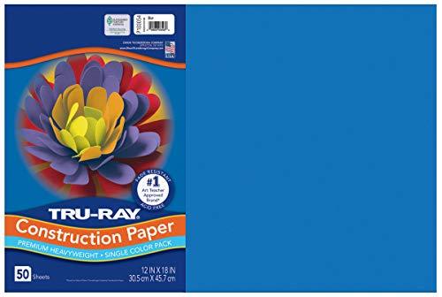 Tru-Ray Construction Paper, Blue, 12