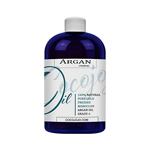 Argan Oil - Cold Pressed 8 oz 100% Pure Natural Extra Virgin Unrefined Grade-a Argan Moroccan Marrakesh Oil Moisturizer Hair Face Lips Body Scalp Skin