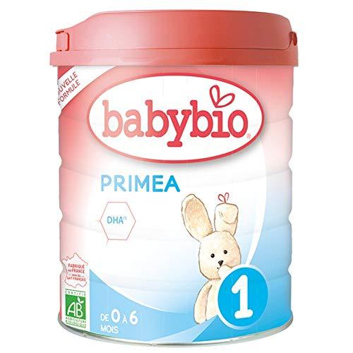 Babybio - Lait Infantile - Primea 1er Âge - 800g - de 0 à 6 Mois - BIO - Fabriqué en France - Sans Huile de Palme