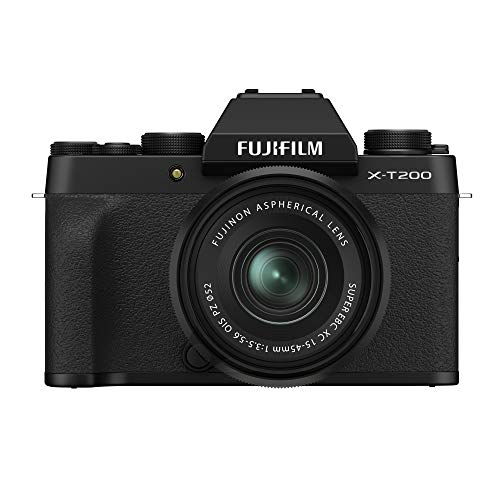 Fujifilm X-T200 - Kit cámara con Objetivo Intercambiable XC15-45/3.5-5.6 PZ, Color Negro