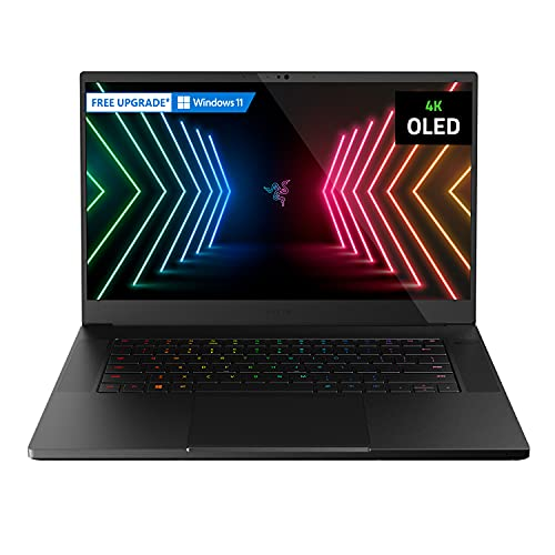 Razer Blade 15 Advanced Gaming Laptop 2021: Intel Core i9-11900H 8-Core, NVIDIA GeForce RTX 3080, 15,6 Zoll 4K OLED, 32GB RAM, 1TB SSD - Chroma RGB - US-Keyboardlayout