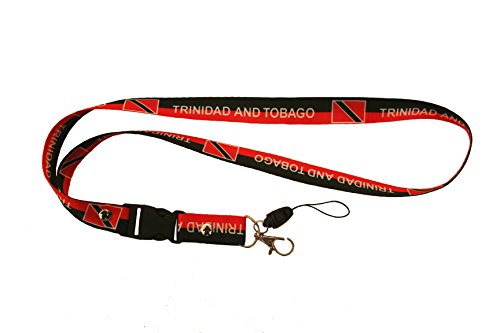 SUPERDAVVES SUPERSTORE Trinidad & Tobago Black Country Flag Lanyard Ranson Pass Holder. 20inches Long. New by