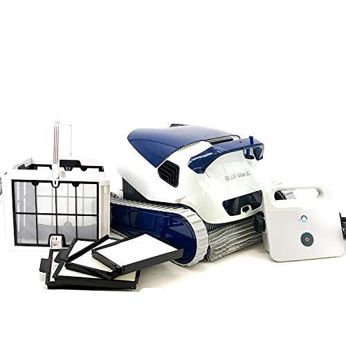 Dolphin BLUE Maxi 30 - Robot automático limpiafondos para piscinas (fondo y paredes) sistema de navegación preciso Clever clean
