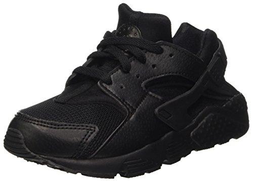 Nike Jungen Huarache Run (Ps) Laufschuhe, Schwarz, Multicolore (Black/Black/Black), 31.5 EU