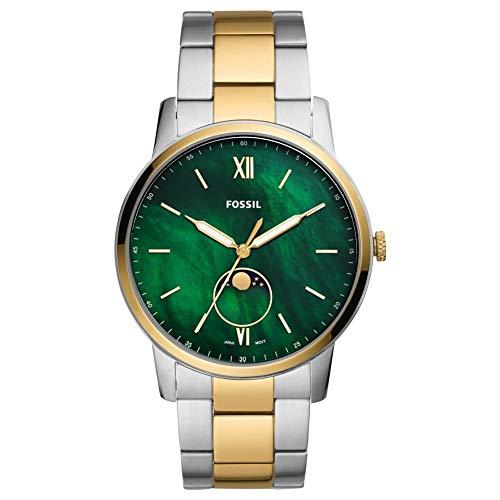 Fossil Herren Analog Quarz Uhr mit Edelstahl Armband FS5572
