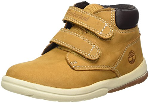 Timberland Unisex Baby Toddle Tracks Hook and Loop Stiefel, Gelb (Wheat Nubuck 231), 22 EU