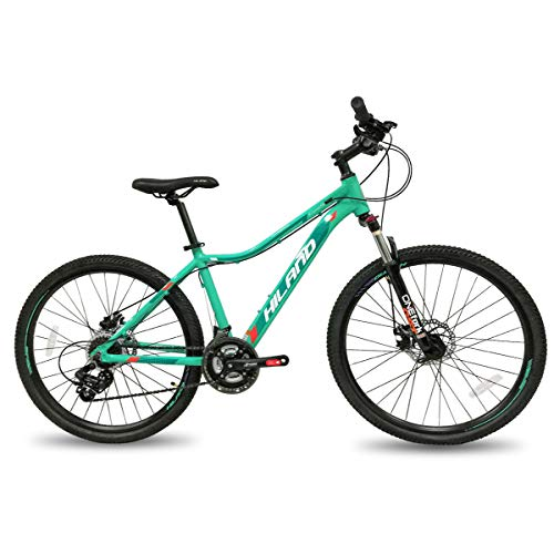Hiland 26 Inch Mountain Bike for Women Disc Brake Urban Commuter City Bicycle Mint Green