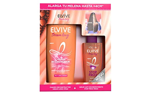 L'Oreal Paris Elvive Cofre Champú Elvive Dream Long y Elvive Stop Frizz Dl 390.8 g